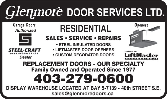 Ads Glenmore Door Services Ltd