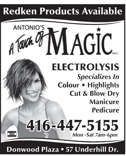 Ads Antonio's Hair Stylists