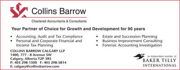 Ads Collins Barrow Calgary LLP