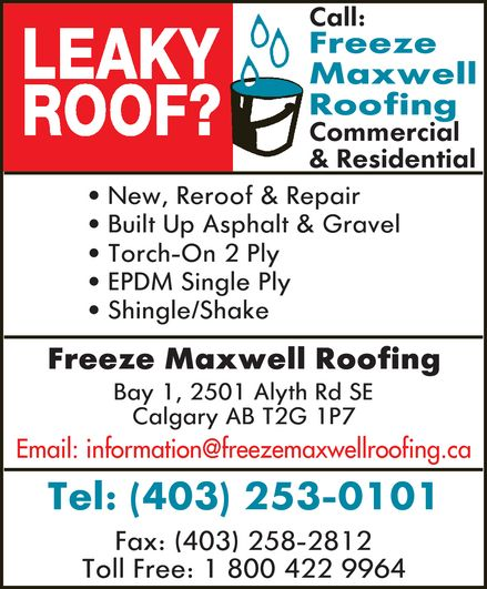 Ads Freeze Maxwell Roofing