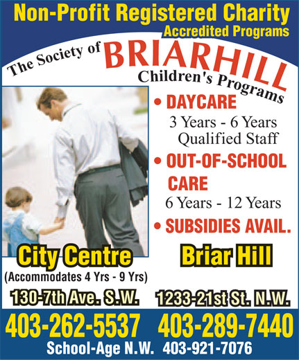 Ads Briar Hill Children's Programs