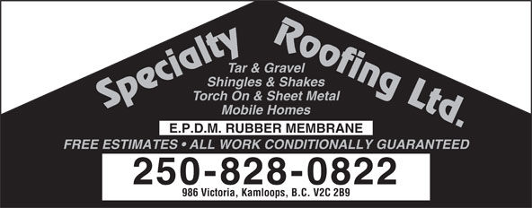 Ads Specialty Roofing Ltd