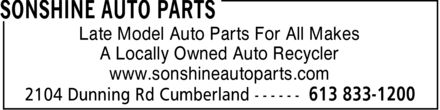 Ads Sonshine Auto Parts
