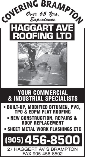 Ads Haggart Ave Roofing Ltd