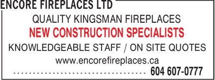 Ads Encore Fireplaces Ltd