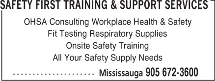 Ads Safety First Training & Support Services