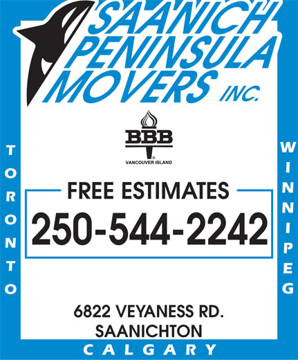 Ads Saanich Peninsula Movers Inc