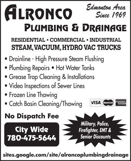 Ads Alronco Plumbing & Heating 2003 Ltd