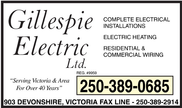 Ads Gillespie Electric