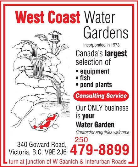 Ads West Coast Koi Farm