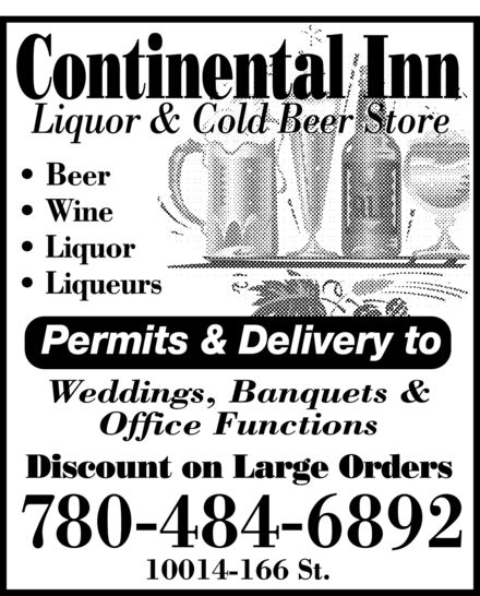 Ads Continental Inn Liquor &amp; Cold Beer Store