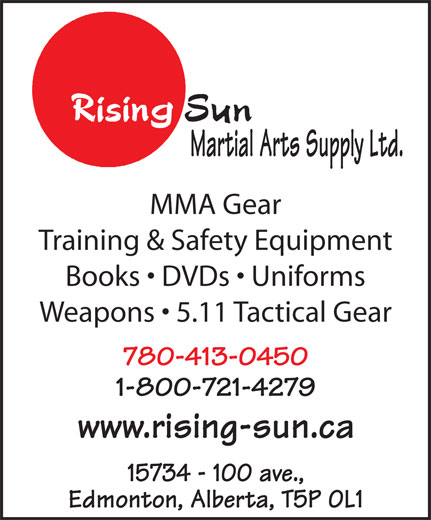 Ads Rising Sun Martial Arts Supply Ltd