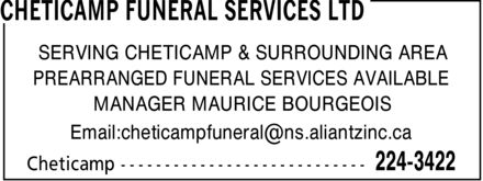 Ads Cheticamp Funeral Services Ltd