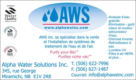 Ads Alpha Water Solutions Inc