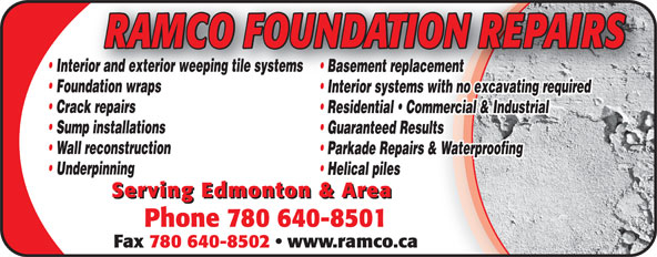 Ads Ramco Foundation Repairs