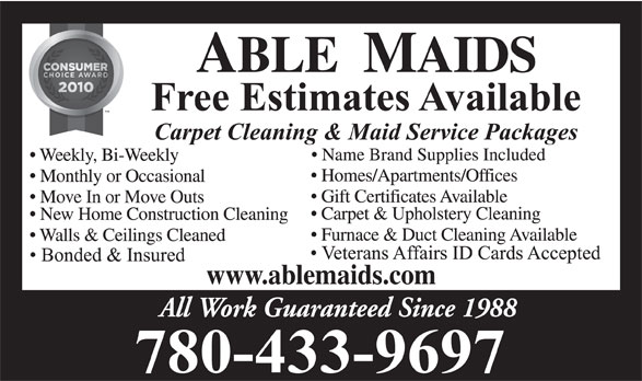 Ads Able Maids (1994) Ltd