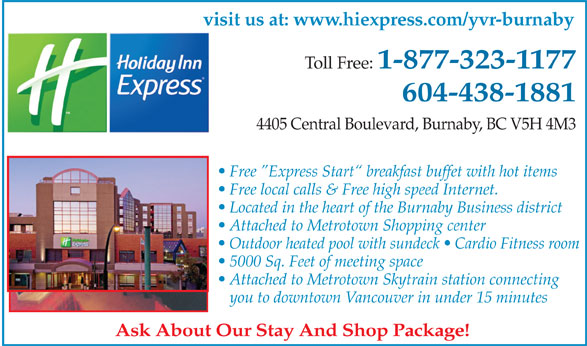 Ads Holiday Inn Express Burnaby Metrotown