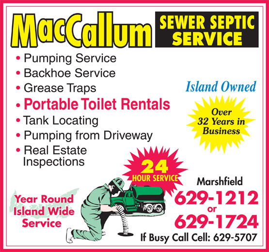 Ads MacCallum Sewer Septic Service