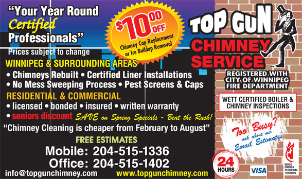 Ads Top Gun Chimney Service