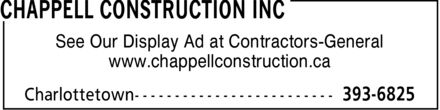 Ads Chappell Construction Inc