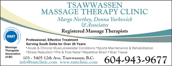 Ads Tsawwassen Massage Therapy Clinic