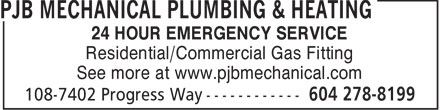 Ads PJB Mechanical Plumbing & Heating