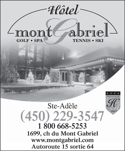 Ads Htel Mont Gabriel Inc