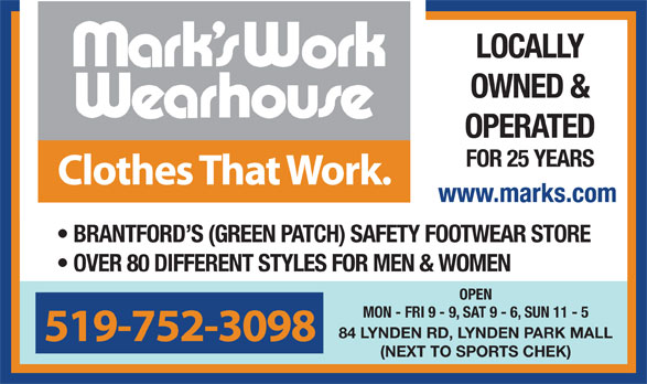 Ads Mark's Work Wearhouse