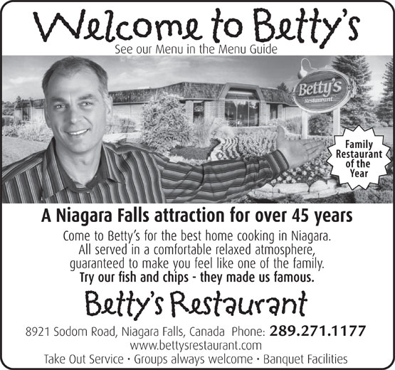 Ads Betty's Restaurant