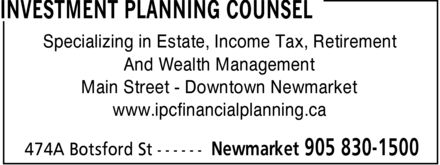 Ads Investment Planning Counsel