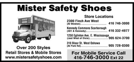 Ads Mister Safety Shoes Inc