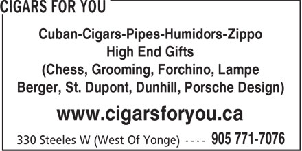 Ads Cigars For You