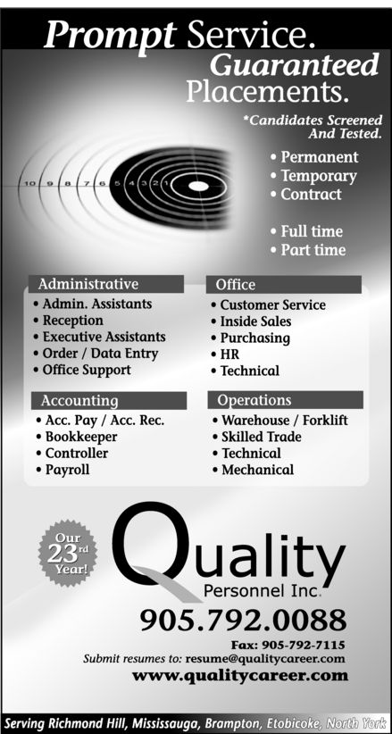 Ads Quality Personnel Inc