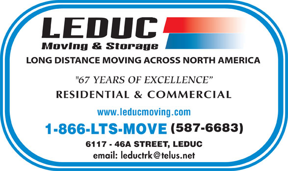 Ads Leduc Moving &amp; Storage
