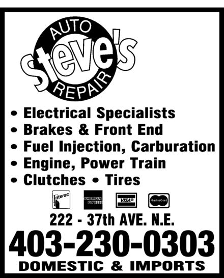 Ads Steve&#039;s Auto Repair
