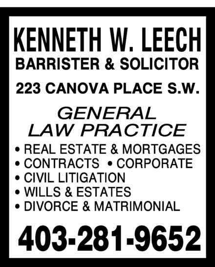 Ads Leech Kenneth W