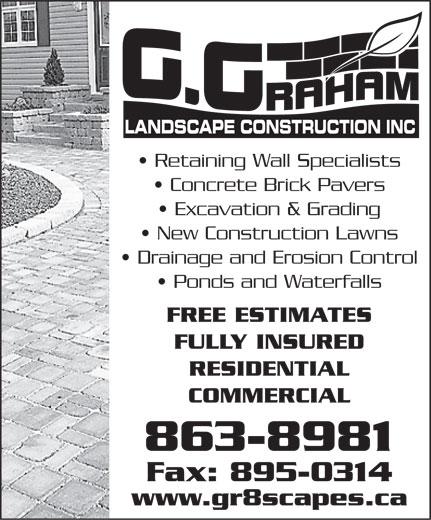 Ads G Graham Landscape Construction Inc