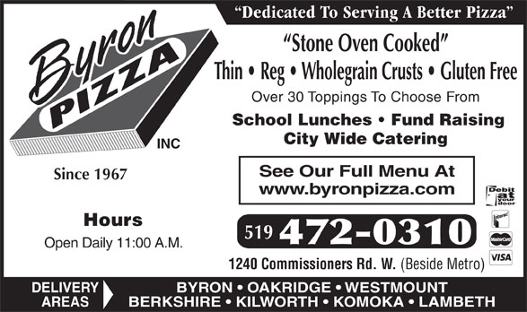 Ads Byron Pizza Inc