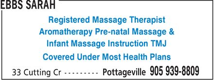 Ads Ebbs Sarah - Registered Massage Therapist