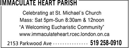 Ads Immaculate Heart Parish