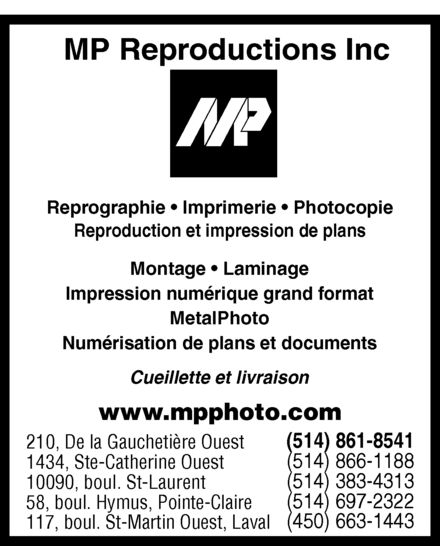 Ads MP Reproductions Inc