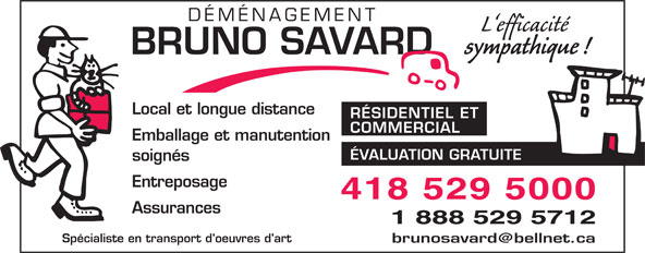 Ads Déménagement Bruno Savard