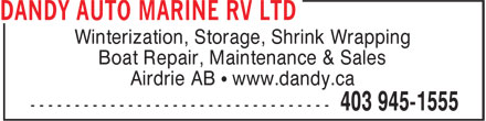 Ads Dandy Auto Marine RV Ltd