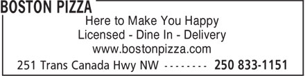 Ads Boston Pizza