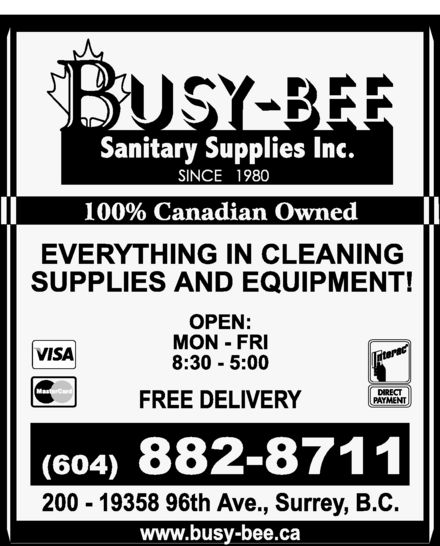 Ads Busy-Bee Sanitary Supplies
