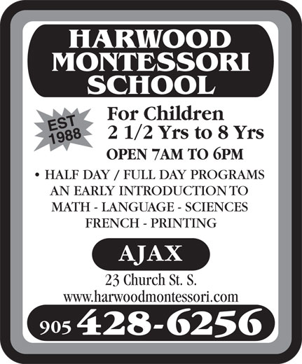 Ads Harwood Montessori School