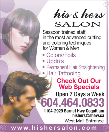 Ads His &amp; Hers Salon