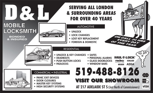 Ads D&L Mobile Locksmith