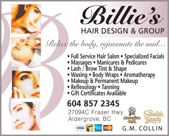 Ads Billie's Hair Design & Spa