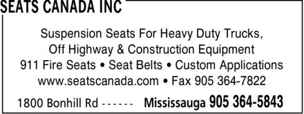 Ads Seats Canada Inc